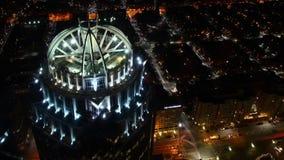 Timelapse des Bostons, Massachusetts Skyline nachts stock footage
