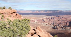 Timelapse of the desert and canyons in utah stock footage