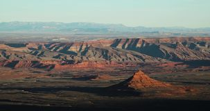 Timelapse of the desert and canyons in utah. A view of the desert and canyons in utah stock footage