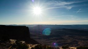 Timelapse of the desert and canyons in utah. A view of the desert and canyons in utah stock video footage