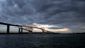 Timelapse di bei ponti che circondano Tokyo abbaia video d archivio