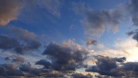 Timelapse di bello cielo di sera Alta qualità 4k, non uccelli stock footage
