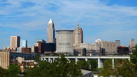 Timelapse di Cleveland 4K del centro stock footage