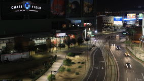 timelapse di notte di 4K UltraHD del campo di inseguimento a Phoenix, Arizona archivi video