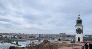 Timelapse di Novi Sad stock footage