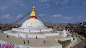 Timelapse di stupa di Boudhanath a Kathmandu stock footage