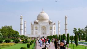 Timelapse di Taj Mahal, Agra India stock footage