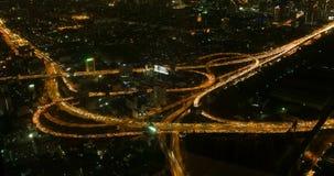 Timelapse di traffico di notte di Bangkok video d archivio