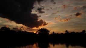 Timelapse di tramonto stock footage