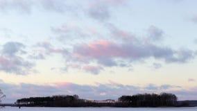 Timelapse di tramonto della primavera archivi video