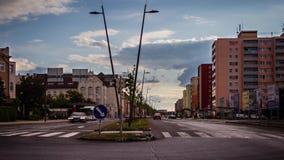 Timelapse di una sera di base in Kladno video d archivio