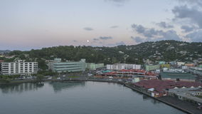 Timelapse die Haven St Lucia Castries verlaten stock videobeelden