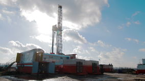 Timelapse die Rig Oil Industry boren stock video