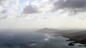 Timelapse die zuidoostenkant van Oahu overziet stock footage