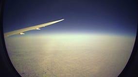 (Timelapse) Directe Vlucht van Denver tot het Venster van Tokyo stock video