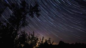 Timelapse do céu noturno vídeos de arquivo