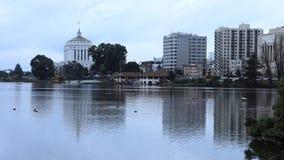 Timelapse do lago Merritt, Oakland Califórnia 4K video estoque