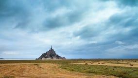 Timelapse do Le Mont Saint-Michel video estoque