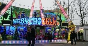 Timelapse do mercado do Natal de Champs-Elysees Paris vídeos de arquivo