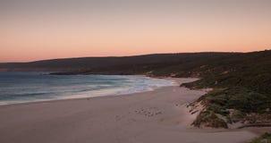 Timelapse do por do sol na praia de Injidup em Yallingup, Austrália Ocidental vídeos de arquivo