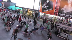 Timelapse do Times Square de New York City video estoque