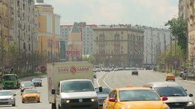 Timelapse do transporte do anel do jardim de Moscou filme