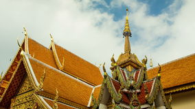 Timelapse of doi suthep temple at blue sky stock video footage