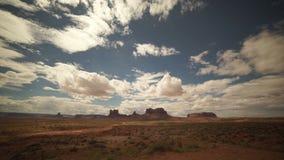 Timelapse drammatico nel parco nazionale del monumento video d archivio