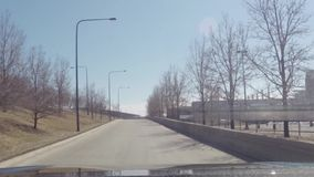 Timelapse driving car in traffic toward downtown Chicago, Illinois stock video