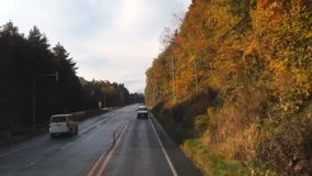 Timelapse driving curve in highway stock footage