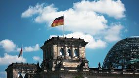 Timelapse du bâtiment de Reichstag à Berlin, Allemagne banque de vidéos