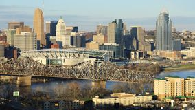 Timelapse du centre de la ville de Cincinnati un beau jour 4K