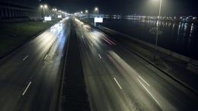 Timelapse du trafic la nuit clips vidéos