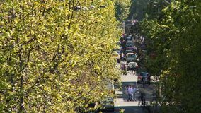 Timelapse einer Stadtszene in Santiago de Chile stock video footage