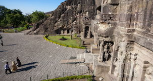 Timelapse пещеры Ellora сток-видео
