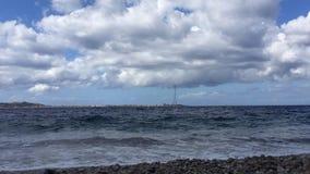 Timelapse en el estrecho de Messina metrajes