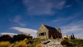 Timelapse en el lago Tekapo, Nueva Zelanda almacen de metraje de vídeo