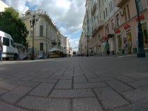 Timelapse en la calle de Arbat en Moscú metrajes