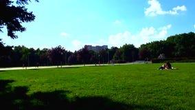 Timelapse escénico en el parque de Krasnodar almacen de metraje de vídeo