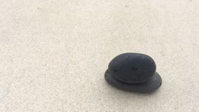 Timelapse of evaporation of water on black stone stock footage