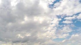 Timelapse för molnig himmel arkivfilmer