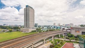 Timelapse för station för Jurong östlig utbytestunnelbana flyg-, en av det viktiga inbyggda navet för offentligt trans. in stock video