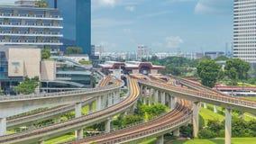 Timelapse för station för Jurong östlig utbytestunnelbana flyg-, en av det viktiga inbyggda navet för offentligt trans. in arkivfilmer