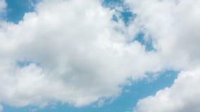 Timelapse fördunklar mot blå himmel i sommar lager videofilmer
