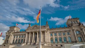 Timelapse. The famous building of the Bundestag is one of the symbols of Berlin stock video