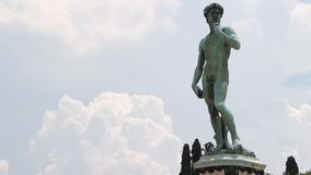 Timelapse of the famous statue of David in Florence, Italy stock video footage
