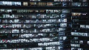 Timelapse fasad som skjutas av fasad för skyskrapa s i centrum Låst ner skott stock video