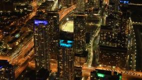 Timelapse flyg- plats av Toronto, Ontario efter mörk 4K stock video
