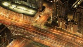 Timelapse flyg- plats av Toronto, Ontario på natten 4K lager videofilmer