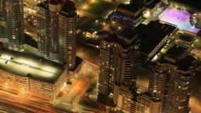 Timelapse flyg- plats av Toronto, Ontario på natten 4K stock video